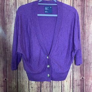 AEO Purple 3/4 Sleeve Cardigan
